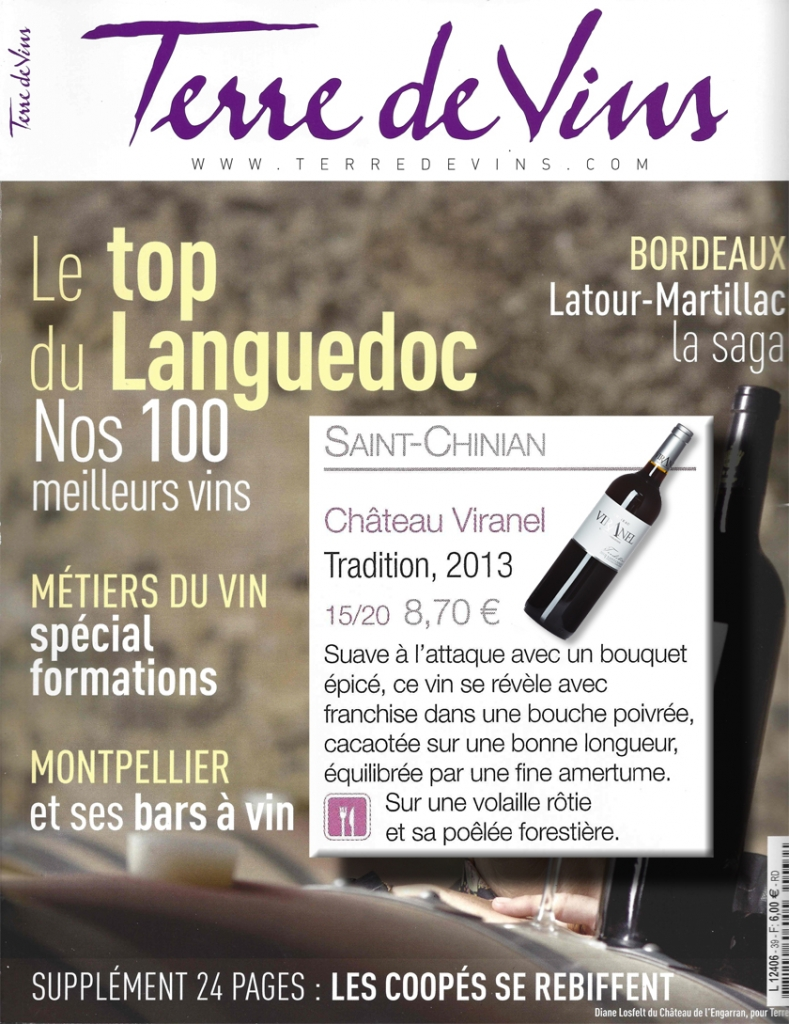 Terre de Vins Tradition Rouge TOP 100 Languedoc Viranel Saint-Chinian
