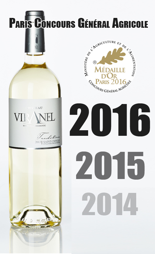 2016 Paris CGE Tradition Blanc Millésime 2015 Viranel Saint-Chinian