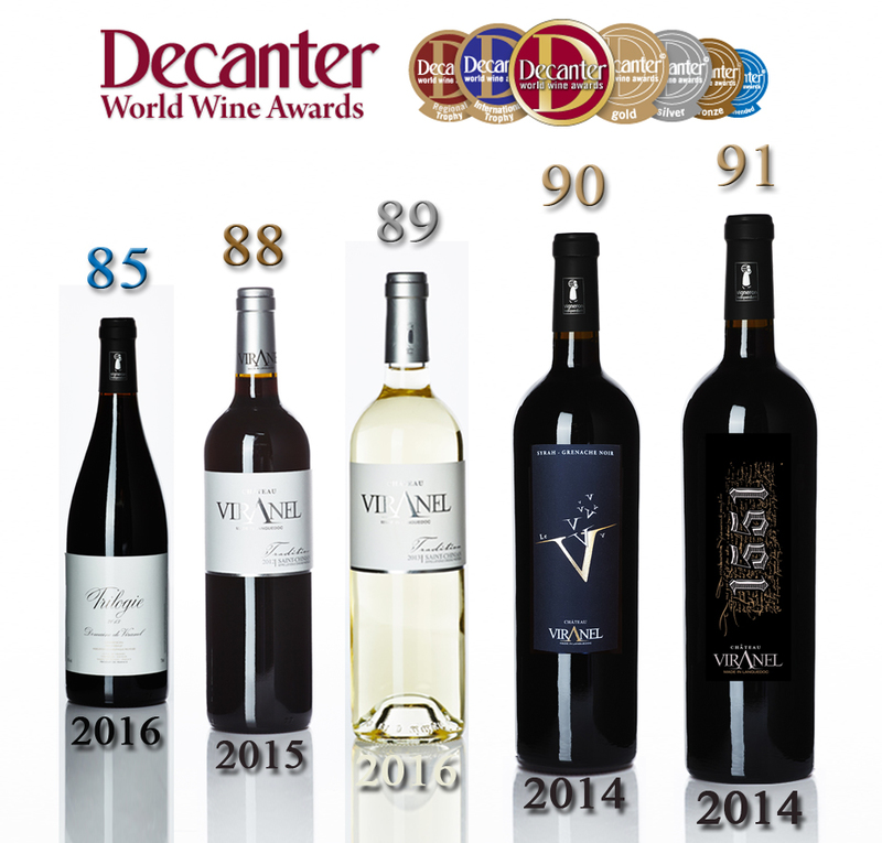 DECANTER WWA Tradition Red15 -  Tradition White 16 - V de Viranel 14 - 1551 2014