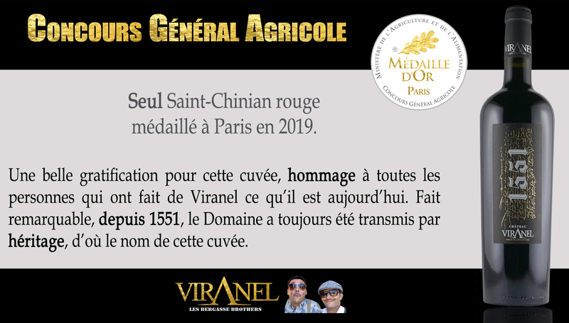 PARIS CGA cuvée 1551 (saint-chinian) mill 2016 Médaille d'OR