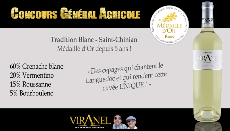 PARIS CGA Tradition Blanc (saint-chinian) mill 2018 Médaille d'OR